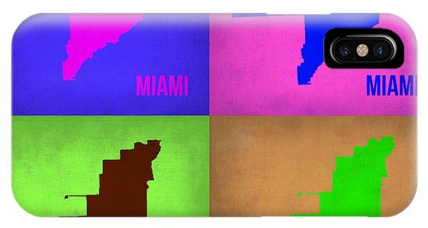 Florida iPhone Case - Miami Pop Art Map 1 by Naxart Studio