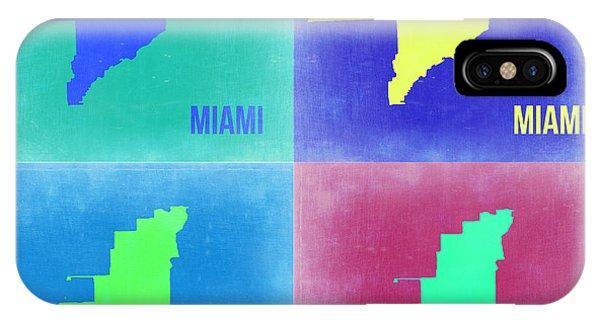 Florida iPhone Case - Miami Pop Art Map 2 by Naxart Studio