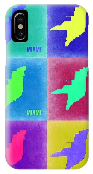 Florida iPhone Case - Miami Pop Art Map 3 by Naxart Studio