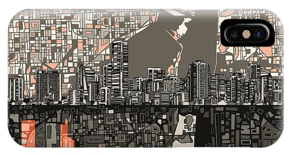 Miami Skyline Abstract 2 IPhone Case