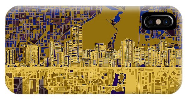 Miami Skyline Abstract 3 IPhone Case