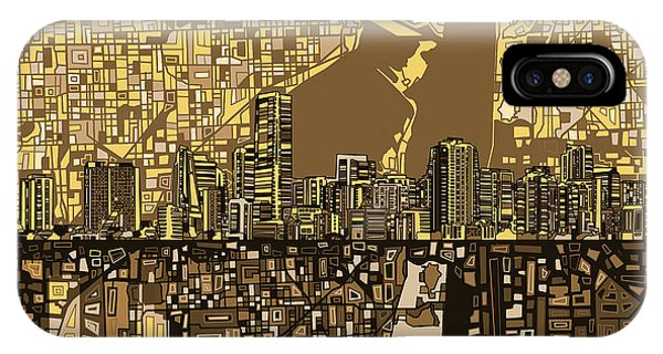 Miami Skyline Abstract 6 IPhone Case