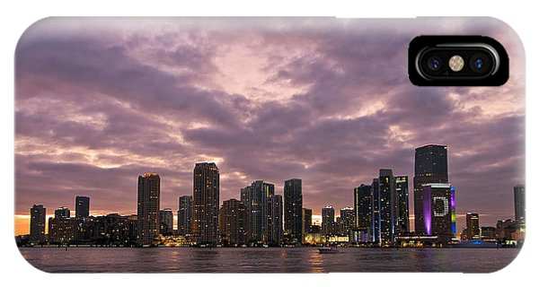 Miami Skyline After Sunset IPhone Case