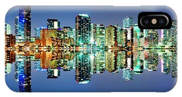 Miami Skyline Panorama IPhone Case