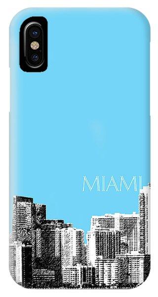 Miami Skyline - Sky Blue IPhone Case