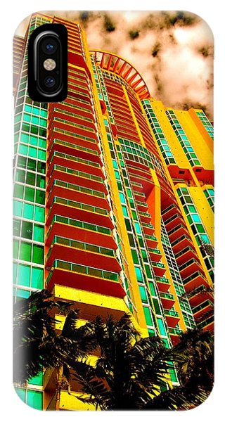 Miami South Pointe II Highrise IPhone Case