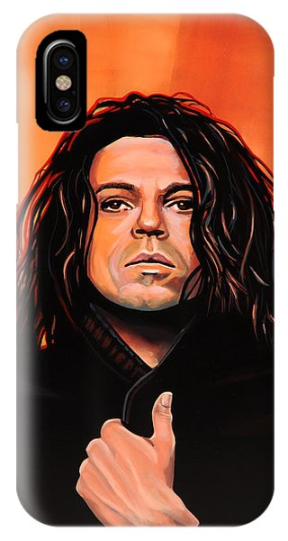 Popstar iPhone Case - Michael Hutchence Painting by Paul Meijering