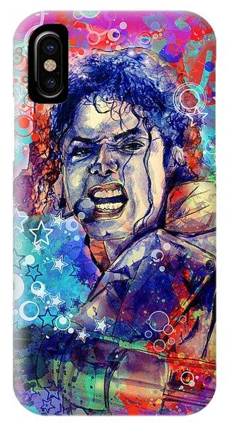 Michael Jackson iPhone Case - Michael Jackson 11 by Bekim Art