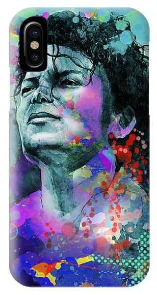 Michael Jackson iPhone Case - Michael Jackson 12 by Bekim Art