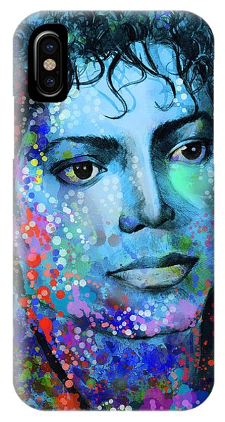 Michael Jackson iPhone Case - Michael Jackson 14 by Bekim Art