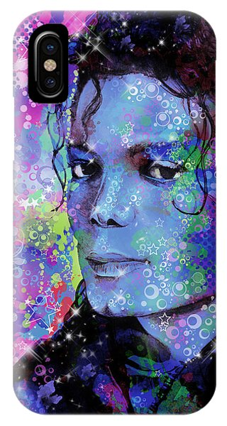 Michael Jackson iPhone Case - Michael Jackson 17 by Bekim Art