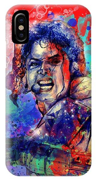 Michael Jackson iPhone Case - Michael Jackson 8 by Bekim Art