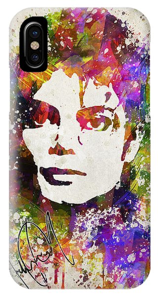 Michael Jackson iPhone Case - Michael Jackson In Color by Aged Pixel