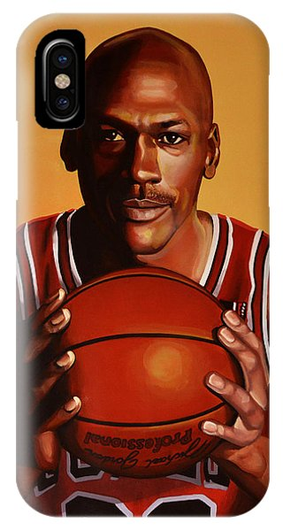 Basket iPhone Case - Michael Jordan 2 by Paul Meijering