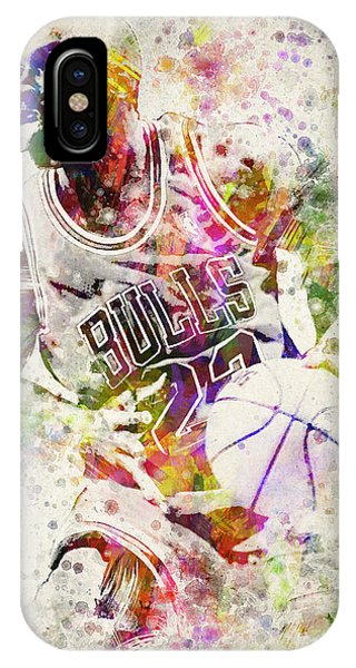 Wizard iPhone X / XS Case - Michael Jordan by Aged Pixel