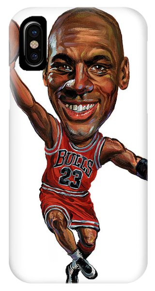 Basketball iPhone Case - Michael Jordan by Art