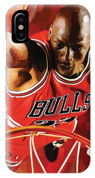 Michael Jordan Artwork 3 IPhone Case