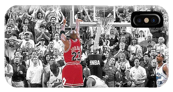 Basketball iPhone Case - Michael Jordan Buzzer Beater by Brian Reaves
