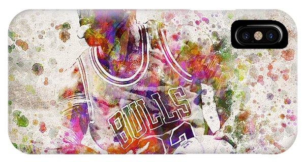 Michael Jordan In Color IPhone Case