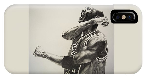City Scenes iPhone Case - Michael Jordan by Jake Stapleton