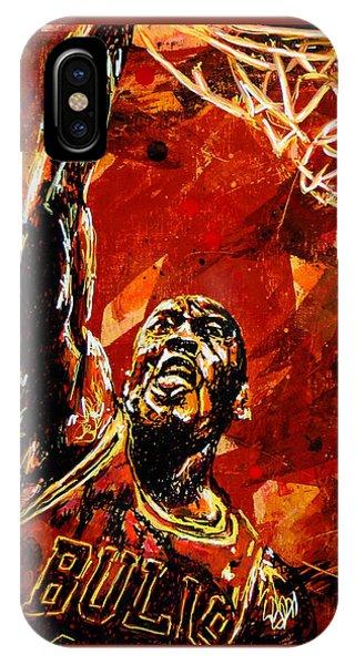Wizard iPhone Case - Michael Jordan by Maria Arango
