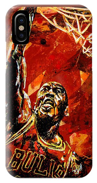 Wizard iPhone X / XS Case - Michael Jordan by Maria Arango