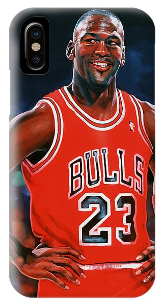 Basketball iPhone Case - Michael Jordan by Paul Meijering