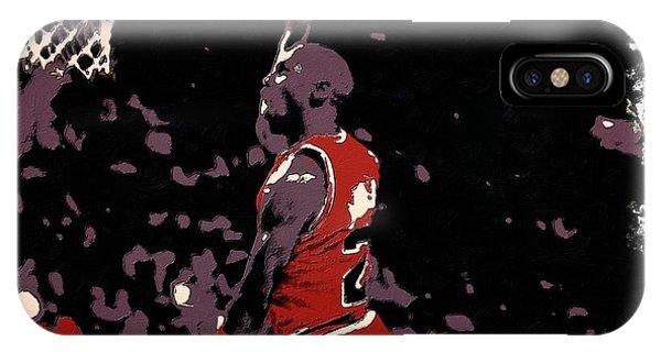 Michael Jordan Poster Art Dunk IPhone Case