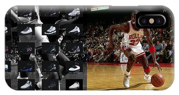 Michael iPhone Case - Michael Jordan Shoes by Joe Hamilton