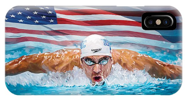 Michael Phelps Artwork IPhone Case