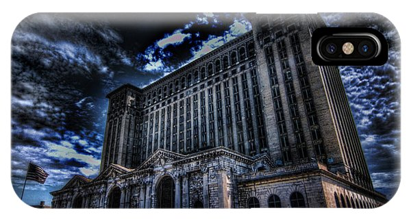 Michigan Central Station Hdr IPhone Case