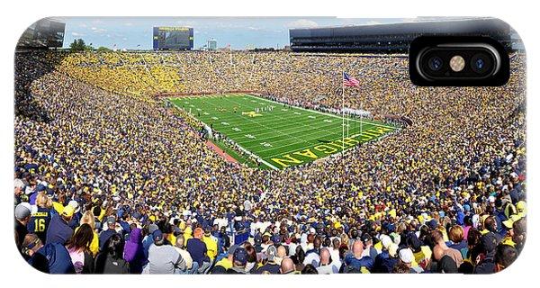 Michigan Stadium - Wolverines IPhone Case