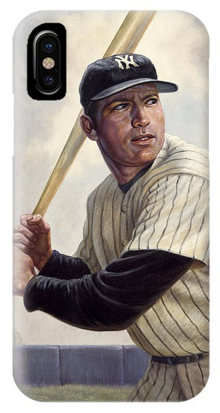 Babe Ruth iPhone Case - Mickey Mantle by Gregory Perillo