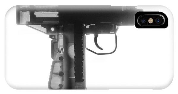 Calico M100 iPhone Case - Micro Uzi X Ray Photograph by Ray Gunz