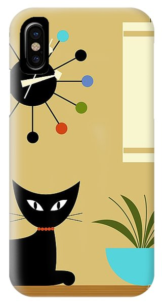 Mid Century Ball Clock 2 IPhone Case