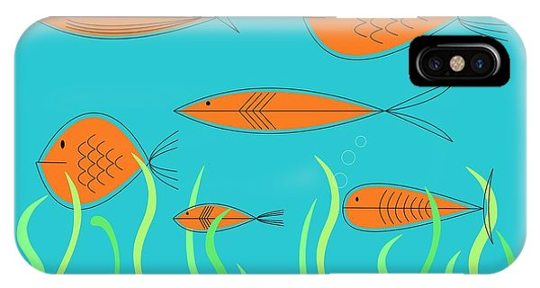 Mid Century Fish 2 IPhone Case