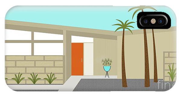 Mid Century Modern House 1 IPhone Case