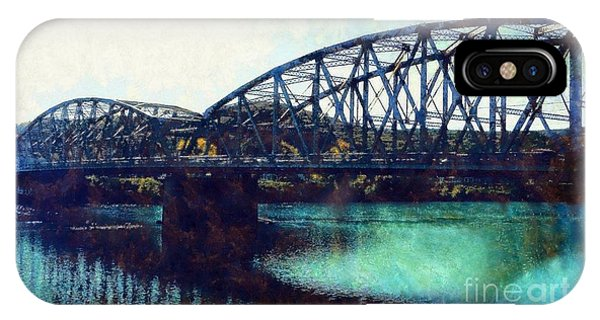 Jervis iPhone Case - Mid-delaware River Bridge by Janine Riley