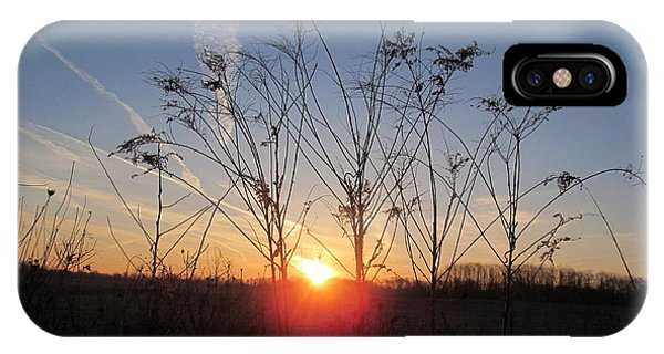 Middle Of The Field Sunrise IPhone Case