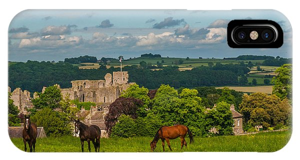 Middleham Castle Phone Case by David Ross