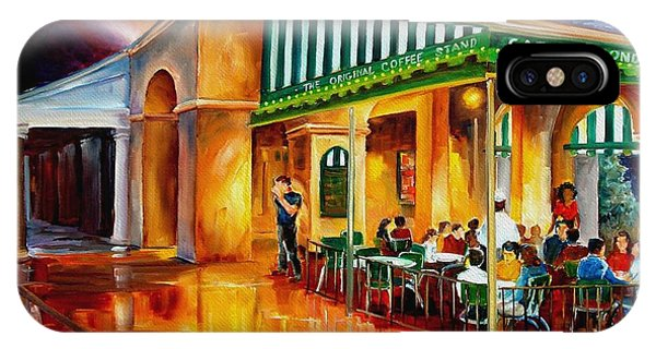French Landscape iPhone Case - Midnight At The Cafe Du Monde by Diane Millsap