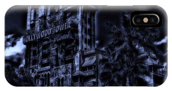 Midnight At The Tower Of Terror IPhone Case