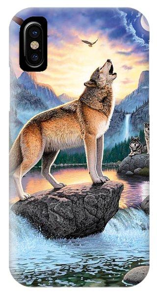 Mountainous iPhone Case - Midnight Call by Chris Heitt