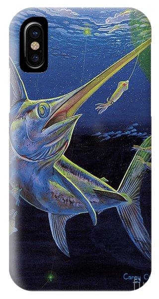 Swordfish iPhone Case - Midnight Encounter Off0023 by Carey Chen