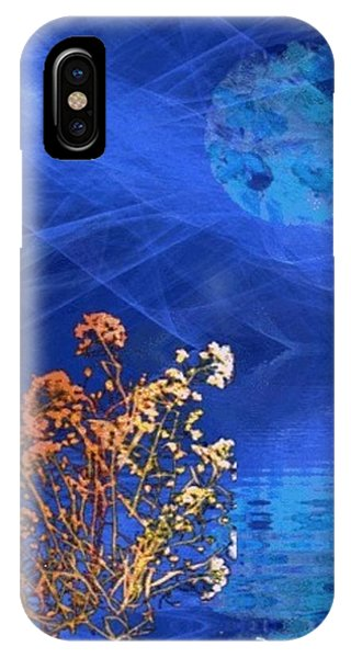 Midnight Flowers Phone Case by Ray Tapajna