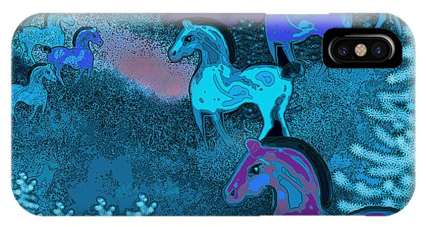 Midnight Horses IPhone Case