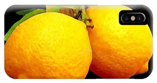 Midnight Lemons IPhone Case