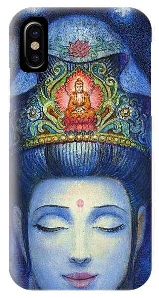 Midnight Meditation Kuan Yin IPhone Case