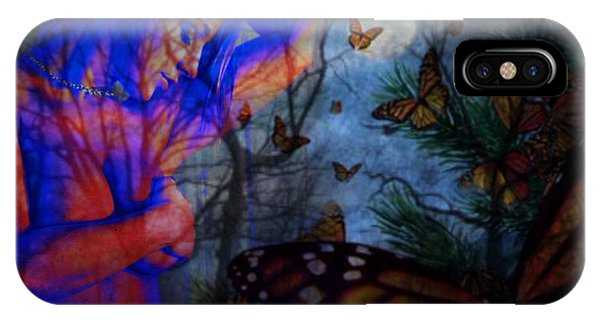 Midnight Nude With Butterflies IPhone Case