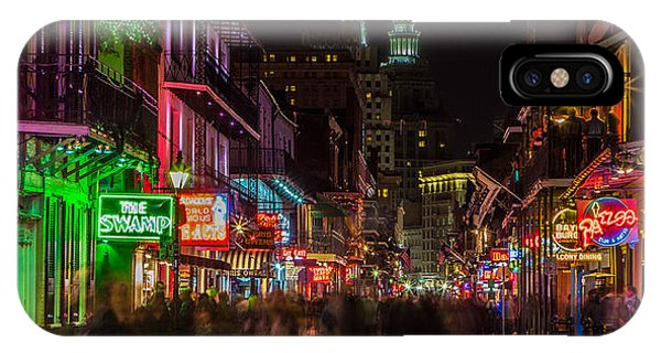 Midnight On Bourbon Street IPhone Case